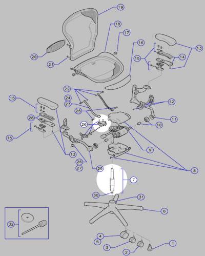 aeronchair-parts-highlighted