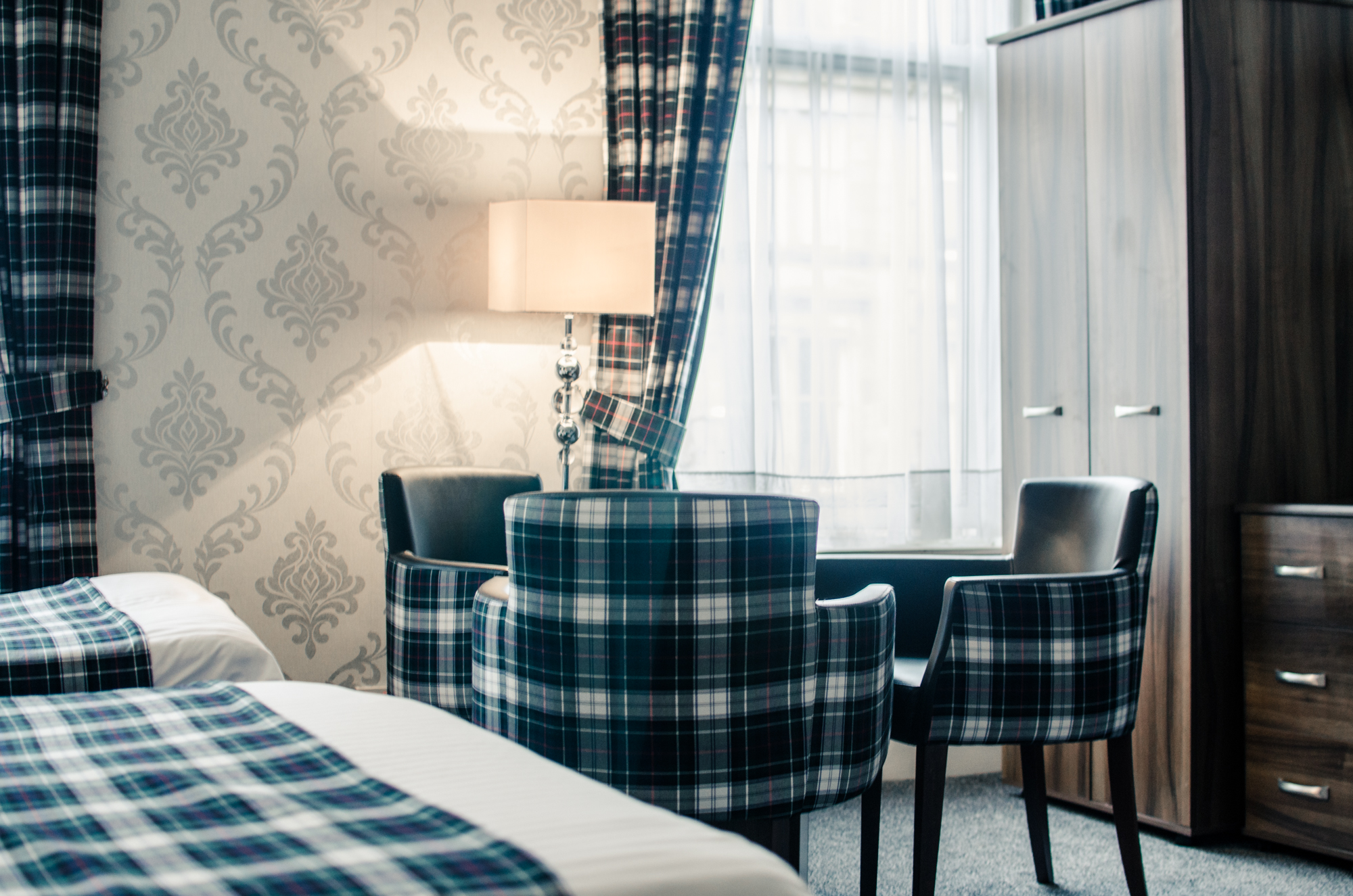 Bedroom Table - Argyll Hotel Glasgow