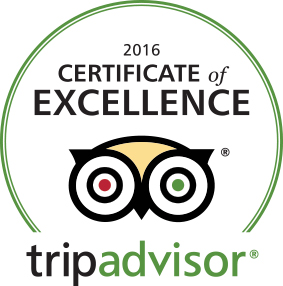Trip Advisor 2016 Certificate of Excellence Glasgow