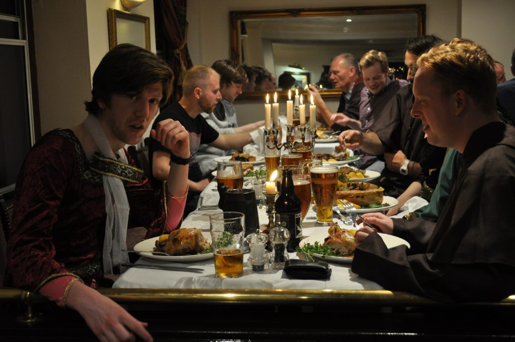 Medieval Knights feast at the Argyll Hotel