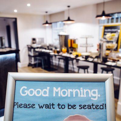 Breakfast sign at Argyll Hotel